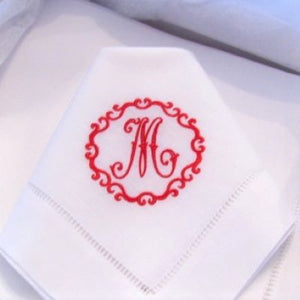 Pascal Signature Monogrammed Table Linens
