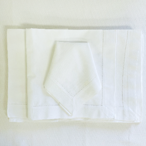 Cotton Seed Stitch Border Napkins