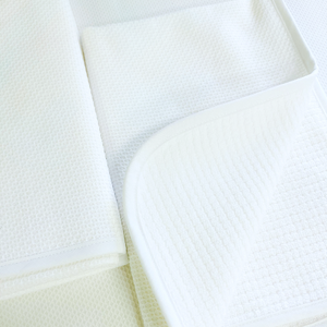 Sale- Pair of White Como Guest & Hand Towels by Matouk