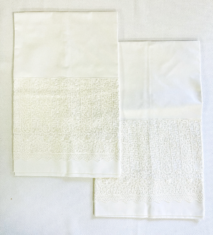 Sale- Ivory Trousseau Lace Pillowcases