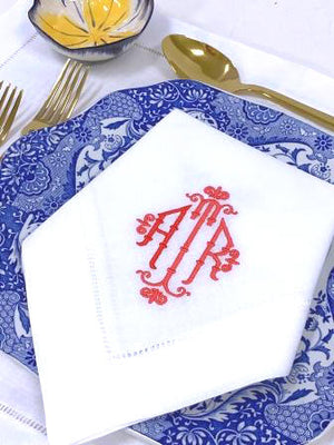 Bamboo Signature Monogrammed Table Linens