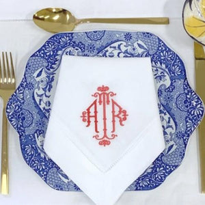 Bamboo Signature Monogrammed Linen Napkins