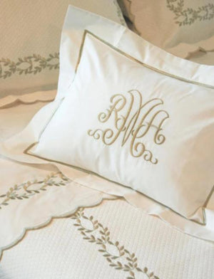Camilla Custom Embroidered Bed Linens-Sheets & Duvet Covers