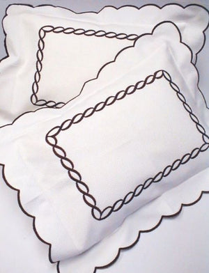 Chain Embroidered Luxury Sheet Sets & Duvet Covers