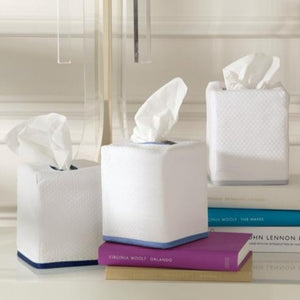 Chiaro Linen Tissue Box Covers-Monogrammed