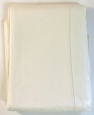 Fine Linen Tablecloth- Ecru - 66 x 160