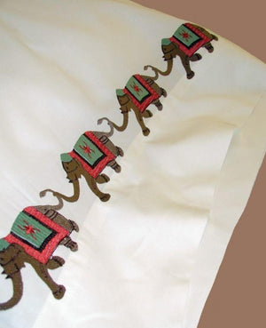 Elephant Embroidered Sheet Sets & Duvet Covers