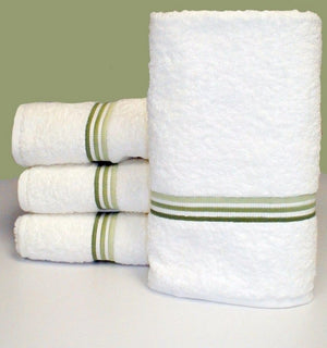 3 Line Embroidered Bath Towel Sets