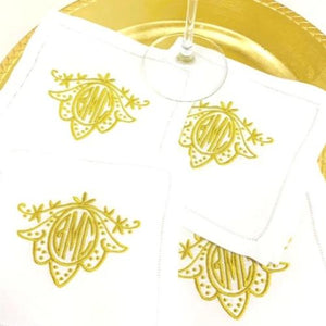 Signature Lily Monogrammed Table Linens