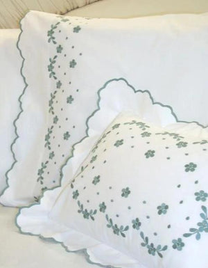 Meadow Custom Embroidered Bed Linens-Sheets-Duvet Covers-Shams