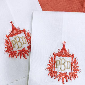 Pagoda Signature Monogrammed Table Linens