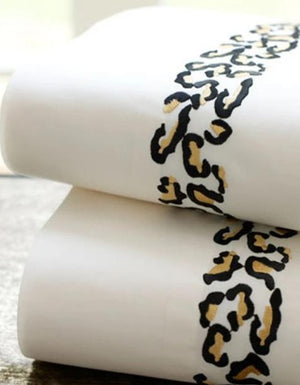 Leopard Bed Linens-Sheets-Duvet Covers-Shams-Custom Embroidered Bedding