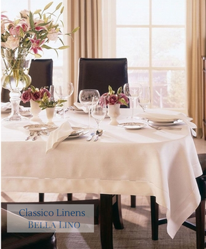 Sferra Classico Fine Table Linens-Napkins-Place Mats-Tablecloths- White & Ecru