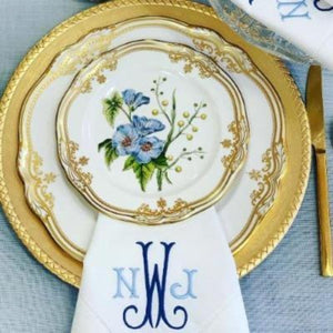 Sharon Signature Monogrammed Linen Napkins-Cocktail Napkins