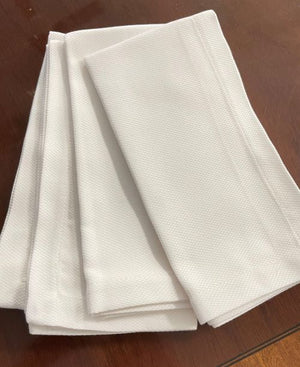 Sale- Sferra White Pique Easy Care Napkins - Set of 4