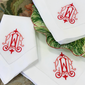 Taj Signature Monogrammed Napkins, Placemats & Cocktail Napkins