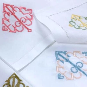 Yvette Signature Monogrammed Table Linens