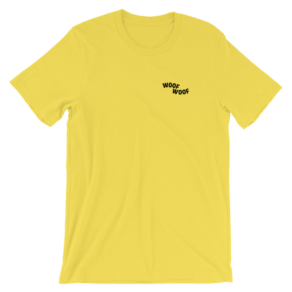 Woof Woof Tee - Yellow - le-fralla