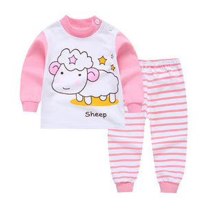 2pcs For Kids  //Baby Boys Girls Clothes Top Pants Cotton Baby Pajamas Sleepwear