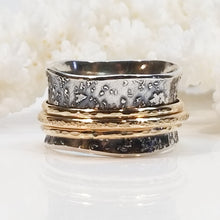 Fused Silver Meditation Ring