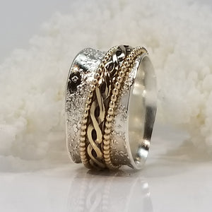 Celtic gold Meditation Ring