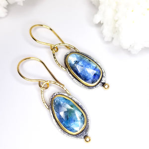 Denim Blue Kyanite Gemstone Earrings
