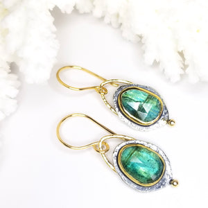 Ocean Blue Gemstone Earrings
