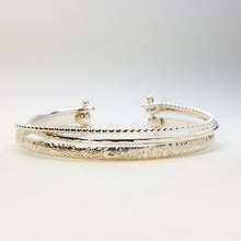 Silver Cuff Bracelet (Medium Weight)