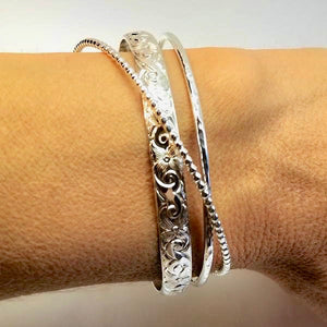 Silver Cuff Bracelet (Heavy Weight)