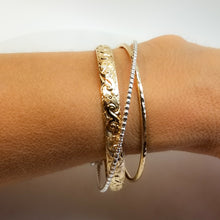 Gold and Silver Cuff Bracelet (Heavy Weight)