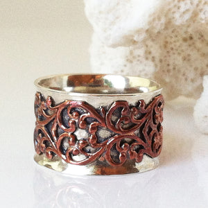 Antique Copper Motif Ring