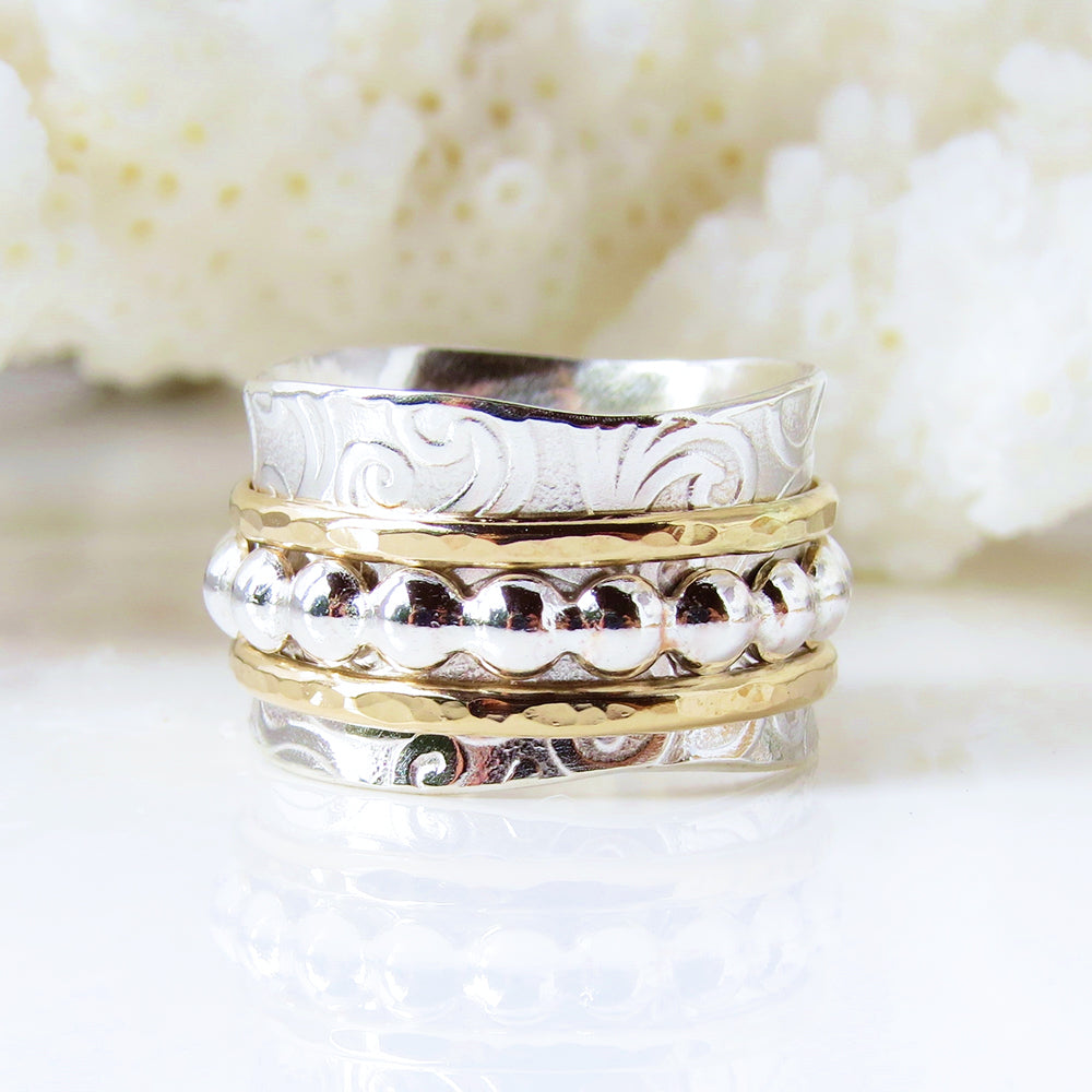 Beaded Spinner Ring