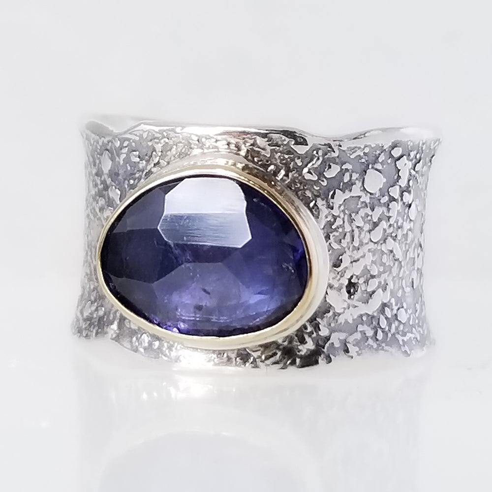 Blue Iolite Ring