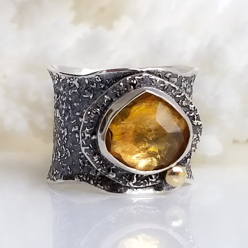 Golden Citrine Ring