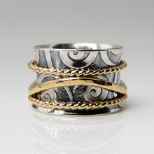 Wide Swirly Wave Ring