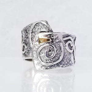 Silver & Gold Wrap Ring