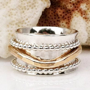 Beaded Wave Ring