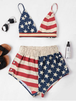 Flag Cami Shorts Set