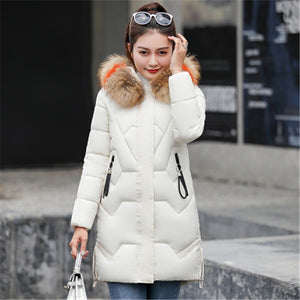 Jacket  Thick Long  Parkas Hooded  Outwear Coat Down Cotton Padded Snow Wear Plus  3XL AA338