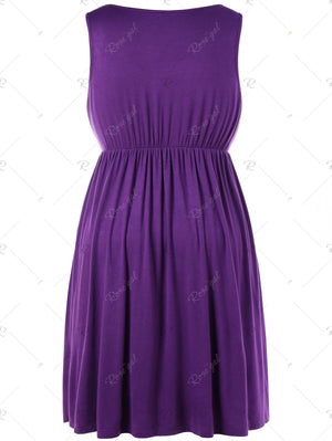 Drawstring Waist Plus Size Nursing Dress