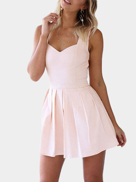 Heart Cut Out Mini Party Dress In Pink