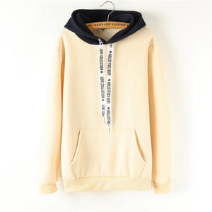 Oversized Hoodies Women Korean Harajuku Hooded Sweatshirt Long Sleeve Color Matching Autumn Winter 2018 Tops Female Tracksuits