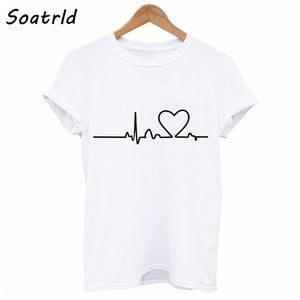 Harajuku Love Printed  T-shirts Casual Tee Tops  Short Sleeve  T shirt  Clothing