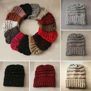 Unisex New Hot Sales Women Men Keep Warm Knitted Caps Unisex Sleeve Knitting Hats Wool Outfits Winter Hat