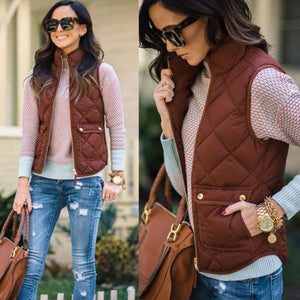 new 2018 Winter Warm Womens Slim Cotton Jacket ladies casual Sleeveless outwear outfit Coat Jacke short coat sock puppet outwear