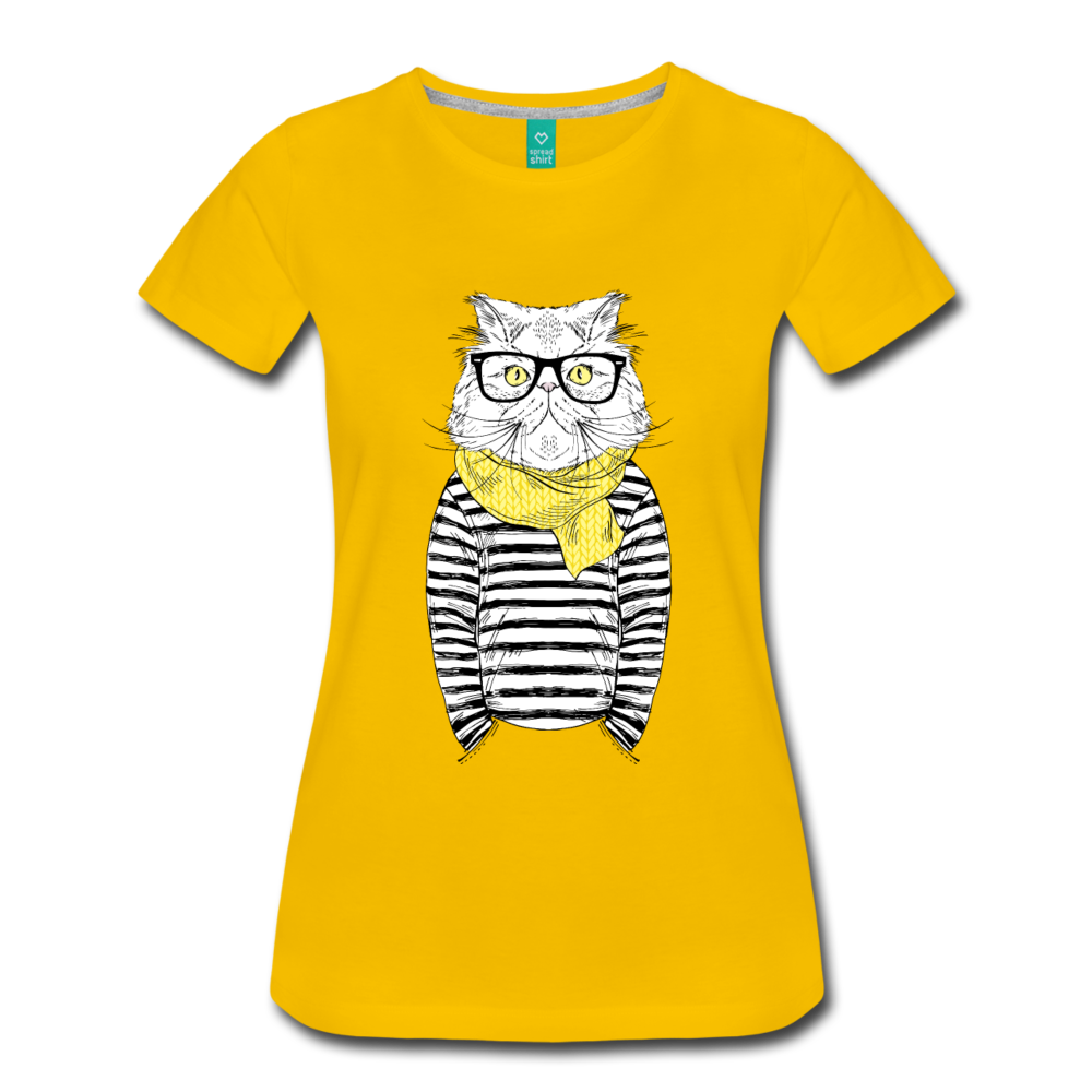 Sailor Cat Women's Premium T-Shirt - Pulgeros