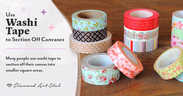 Washi Tape to Section Off Canvases