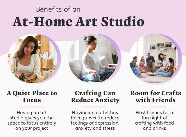 benefits of an at home art studio