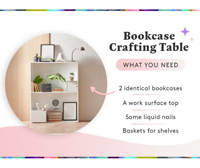 bookcase crafting table