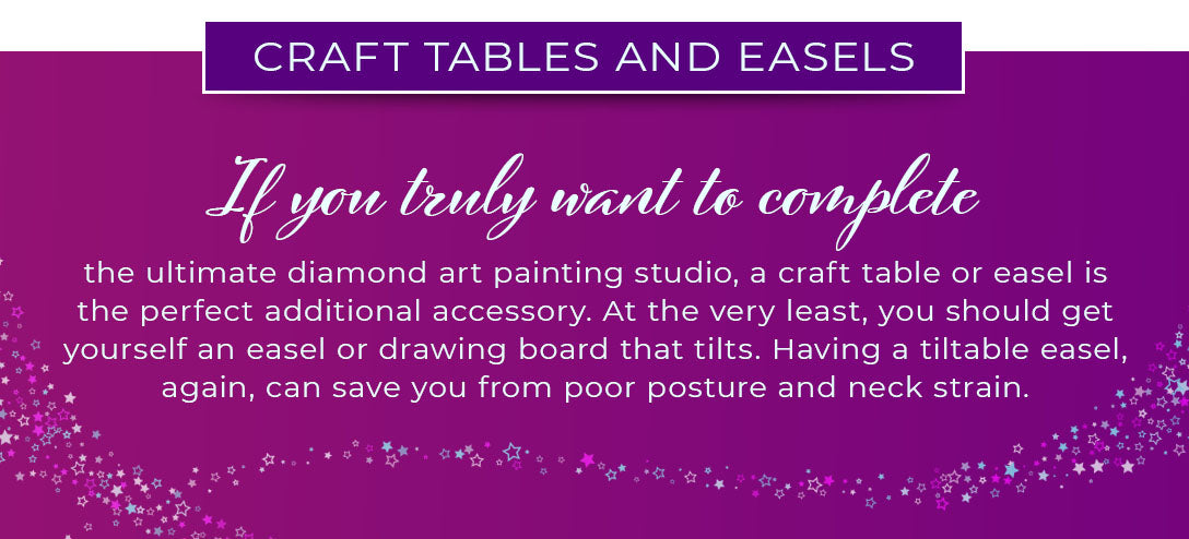 craft tables or easels graphic